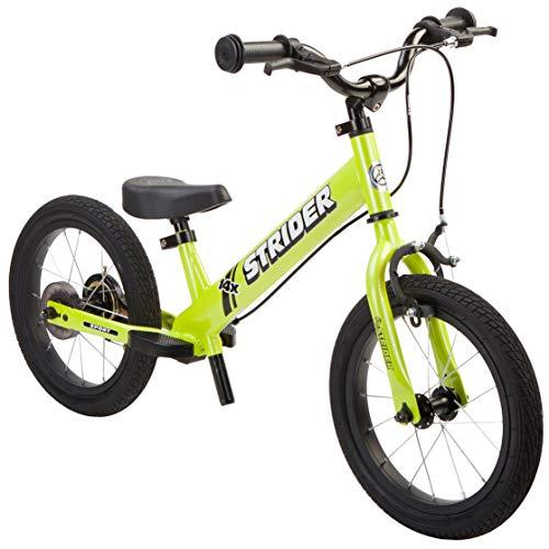 Strider 14x Sport Kinder Laufrad 14 Zoll, Lauffahrrad ab 3 bis 7 Jahre, Balance Bike in Grün