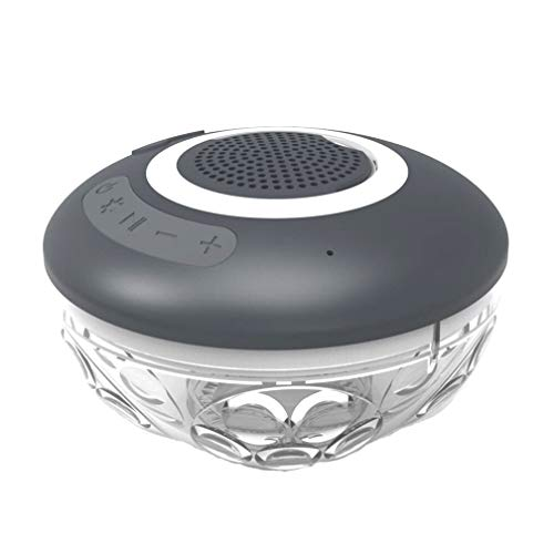 Bluetooth-Lautsprecher, 7-Stufige Wasserdichte, Schwimmende Bluetooth-Lautsprecher Auf Dem Pool, Outdoor-Drei-Proof-TWS-Audio, Eingebaute Lithium-Batterie, USB-Schnittstelle, Knopf Bedienung, Grau -