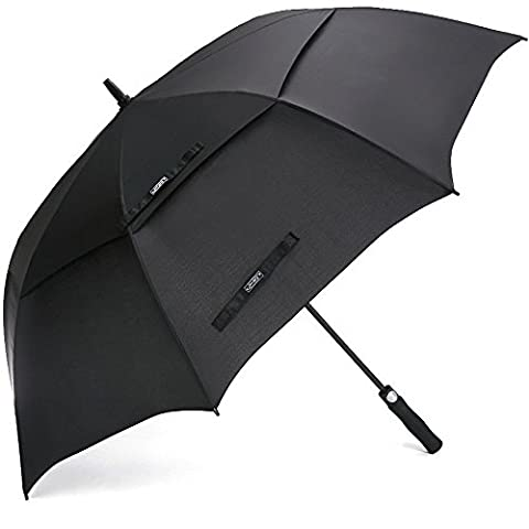 G4Free Golf Umbrella 68 Inch Windproof Double Canopy Vented Extra Large Oversize Automatic Open Waterproof Stick Umbrellas