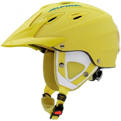 Alpina, Casco da sci Grap Cross, Multi-Coloured - Mehrfarbig - Jaune/noir - gelb Matt, Taille M (54-57 cm)
