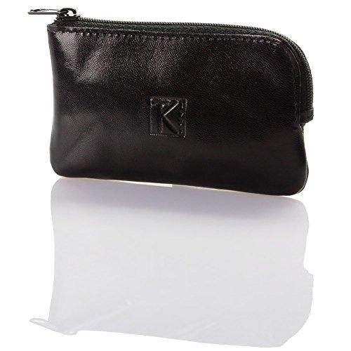 TK 1979 Pochette porte monnaie porte-clés cuir noir 161 - Noir, Cuir