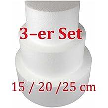Dummy Set Quadratisch Styropor 10-20-30-40 Cm Ø 10 Cm