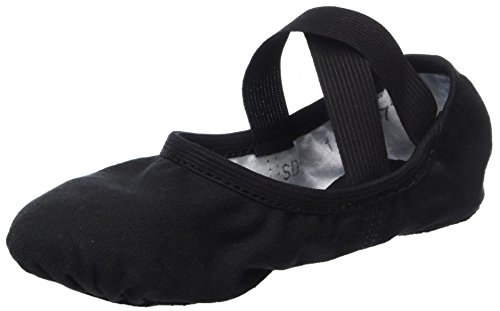 So Danca Unisex Kids' Sd-sd16_Blck Ballet Shoes