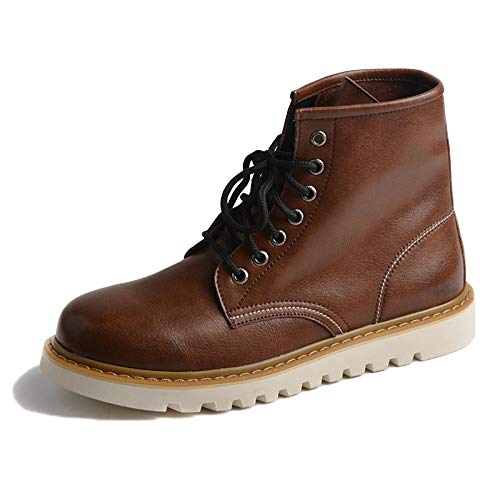 Stivali Dr Martens Stivali Adulti Stivali Antinfortunistici Pelle Classica Stivali Invernali in Pelle Nera Alta Autunno E Inverno,Brown-41