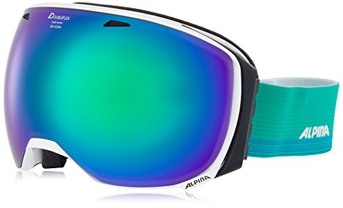 ALPINA Big Horn Skibrille, White, One Size
