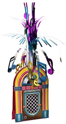 Beistle 577651er Pack Jukebox Mittelpunkt Musikbox, Mittelstück Mehrfarbig