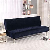 Funda Plegable sofá Cama sin reposabrazos, Cubierta Engrosada Asiento, Protector de sofá de Banco Azul, Grande (L)