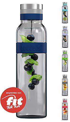 boddels Glaskaraffe SUND 1.100 ml (Nachtblau) - Deine Wasserkaraffe für zuhause