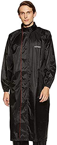 Amazon Brand - Solimo Water Resistant Polyester Long Rain Coat