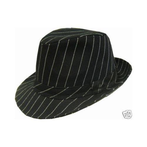 Trilby TREND HAT NADELSTREIFEN Hut HOT DAG/SCHWARZ, GR: L -