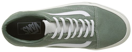Vans Ladies Old Skool Running Shoes Green (retro Sport)