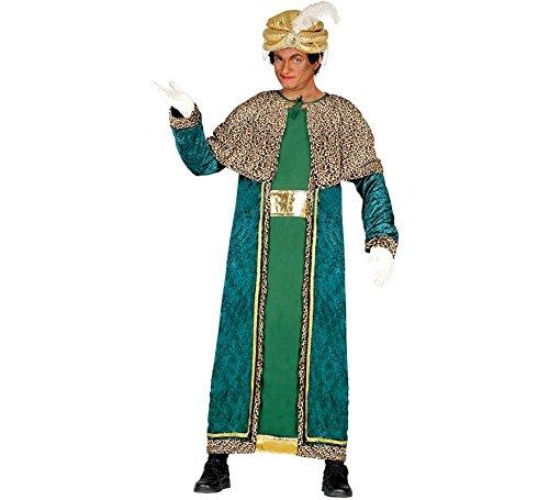 Imagen de guirca  disfraz rey mago baltasar para adulto, talla l, color verde 42402.0