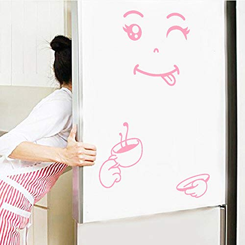 Zegeey Niedlichen Aufkleber Kühlschrank Happy Delicious Gesicht Küche Kühlschrank Wand Kühlschrank Vinyl Aufkleber Kunst Wandtattoo Home Decor