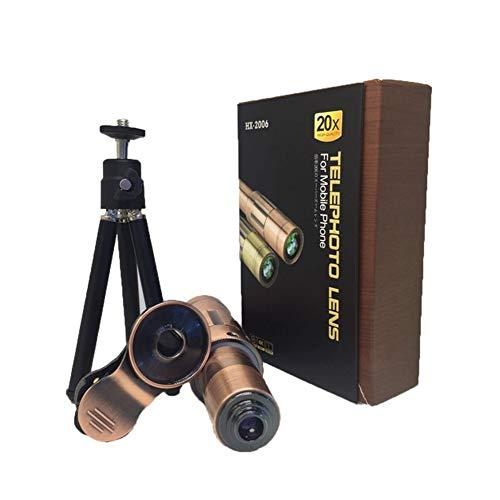 Qnlly HD 20X Metall Bronze Teleskop Retro Totale Handy, Uhrenkonzert, Sehen Sie die Landschaft,RedCopper