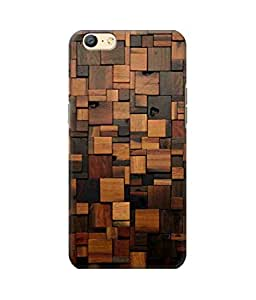 Be Awara Wooden Squares Printed Back Case Cover for Oppo A57