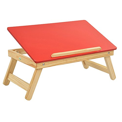 Ebee Red Multipurpose Wooden Foldable Laptop Table