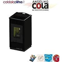 Cola Estufa Pellets Free HR ACC 8 kW negro