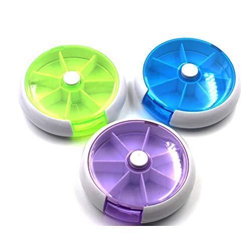 LaDicha 6 Slots Round Storage Tool Box Screw Nut Colorful Box Case - Grün -