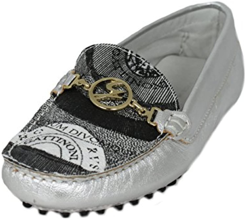 Gattinoni Damen Schuhe Shoe Mokassins Leder Gr.36-41 202 silber (39)