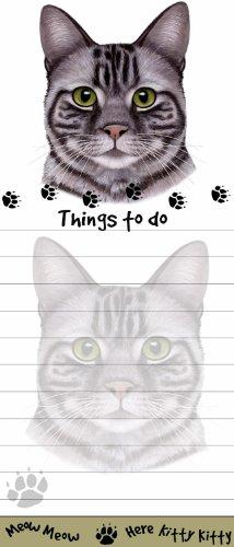 E&S Pets Gestromt Katze magnetisch Liste Pads Einzigartige Form Sticky Notizblock Maßnahmen 8,5von 8,9cm -