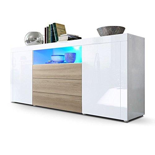 Credenza moderna Diego C1, mobile per salotto di design in più colori