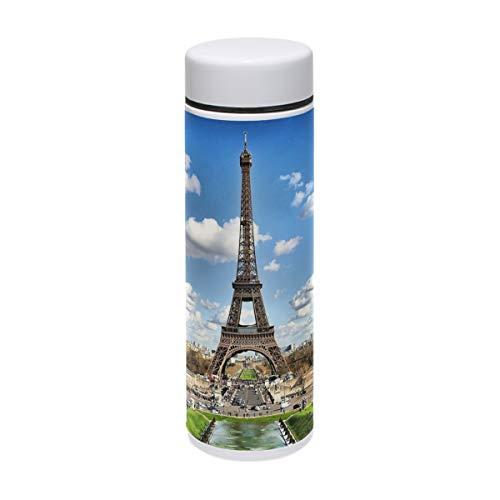 MUOOUM Paris Eiffelturm City Vakuumisolierte Edelstahl-Reisebecher, Sport-Wasserflasche, 200 ml, heiß für 12 Stunden