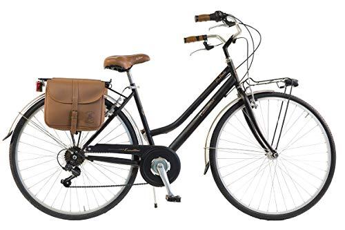 Via Veneto by Canellini Bicicletta Bici Citybike CTB Donna Vintage Retro Via Veneto Acciaio Nero Taglia 46