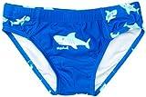 Playshoes Jungen Badehose UV-Schutz Hai, Blau (original) 122/128