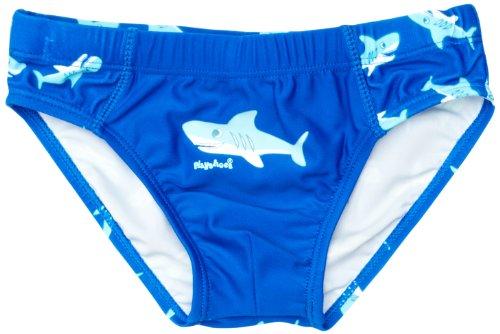 Playshoes Jungen Badehose 460124 Badehose Hai mit höchstem UV-Schutz nach Standard 801 und Oeko-Tex Standard 100, Gr. 86/92, Blau (original) (Teen Boys Badehose)