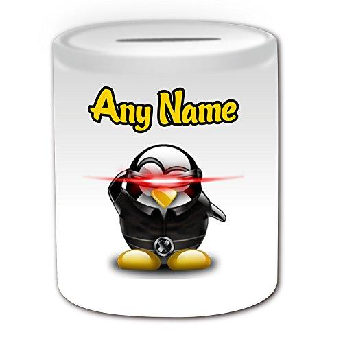 Personalisiertes Geschenk–Scott Summers Spardose (Pinguin Film Charakter Design -