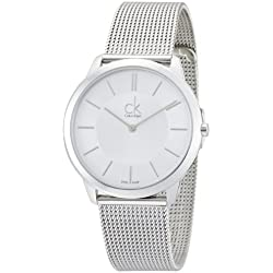 Calvin Klein Men's Quartz Watch ck minimal K3M21126 with Metal Strap