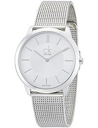 Calvin Klein K3M21126 - Reloj analógico de cuarzo para hombre con correa de acero inoxidable, color plateado