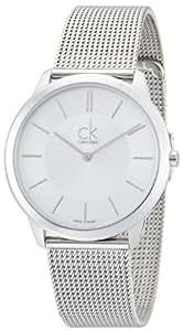 Calvin Klein Homme 40mm Argent Acier Bracelet & Boitier Montre K3M21126