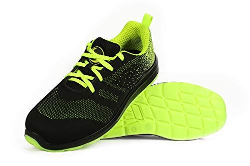 Race Low S1 - Sicherheitshalbschuhe Sneaker für die Arbeit - aus Textil- Ohne Stahlkappe - Schwarz 42