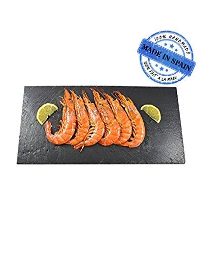 Homeline Tabelle, tafel, zu Tapas, käse, Snacks, 20x40 cm Set Profi 6 einheiten. Natur-Schiefer - Tabellen 20 Einheit