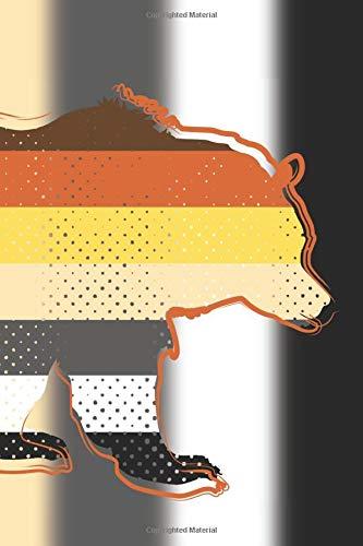 Bear Daddy Journal: LGBT Bear Flag Inspired Blank Lined Journal