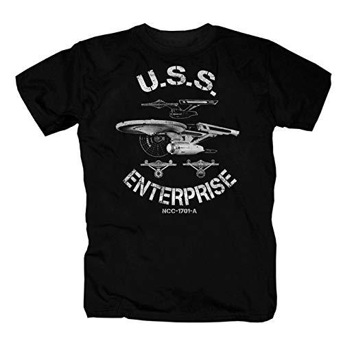 USS Enterprise Star Trek Vintage T-Shirt (4XL) (T-shirts Trek Star)