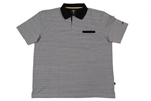 Hajo Poloshirt Art. 25330 und 25330XXL Hellgrau Meliert