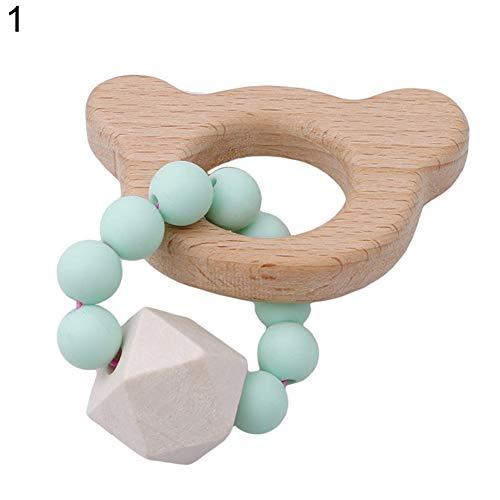 SEGRJ Baby Armband Bär Wolke Mond Tierform Schmuck Beißring Rassel Spielzeug – 8# 1#