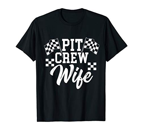 Pit Crew Wife Drag Racing Car Lover For Women MP T-Shirt - Racing Pit Crew Shirt