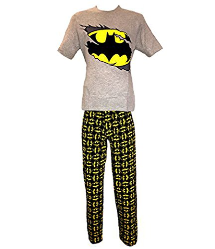 Da uomo Batman Superman Originale Hulk Marvel Avengers di animale Lounge Abito Set Pigiama Pjs S-XL multicolore Batman - Grey/Black medium