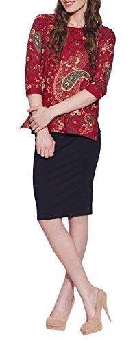 Rosagedruckt3-Tasten-DamenBaumwolleSpitze-einzigartigeModefürFrauen-HandwerkerhergestelltinIndien Kastanienbraun 2