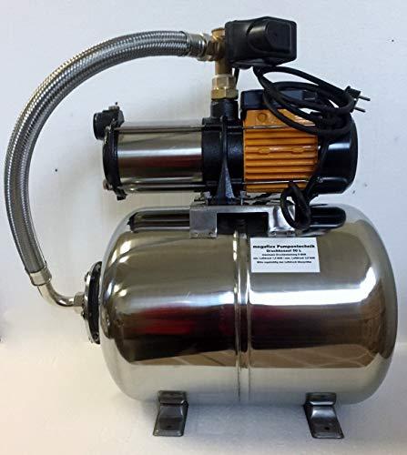 Hauswasserwerk megafixx S5-50ES 1100 Watt 50 Liter Edelstahl Druckkessel - 3