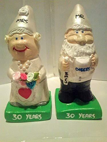 Wedding Anniversary mr and mrs Gift gnome Figurines