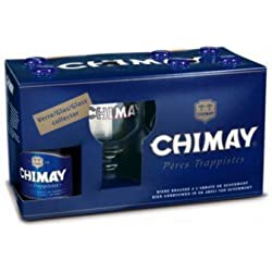 Chimay Azul Cerveza Belga Trapense Pack 6 Botellas 33 Cl.+ Copa