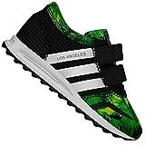 adidas Originals Kinder Los Angeles Sneaker La Trainer S65358 Schwarz Dschungel, Farbe:Schwarz, Schuhgröße:EUR 23 1/2