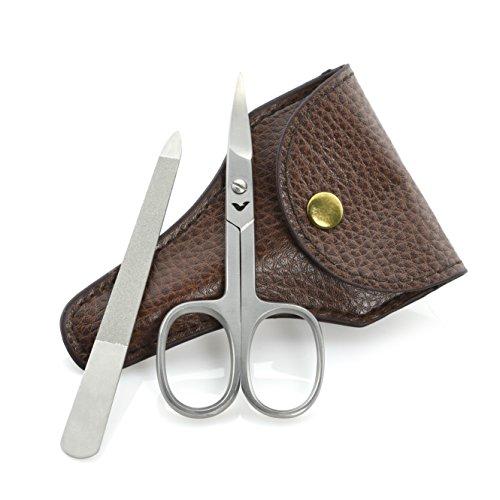 Premium Nagelschere und Nagelfeile mit Etui | Extra Scharfer Schnitt | Ideal fürs Reisen | Maniküre und Pediküre Set | Optimale Nagelpflege für Damen und Herren
