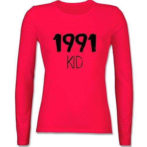 Geburtstag - 1991 KID - tailliertes Longsleeve / langärmeliges T-Shirt für Damen Rot