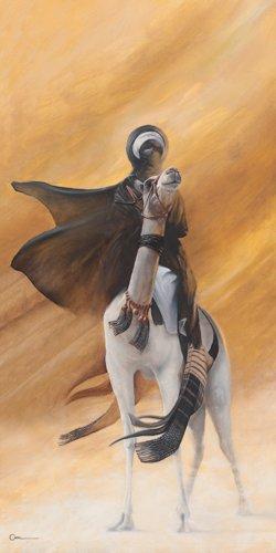 Acrylglasbild Cedric Cazal - Sirocco - 40 x 80cm - Premiumqualität - Orient, Pferd, Wüste, Schlafzimmer, Wohnzimmer - MADE IN GERMANY - ART-GALERIE-SHOPde