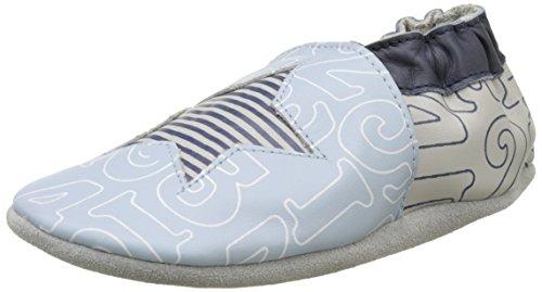 Robeez - Kindergarten, Scarpine e pantofole primi passi Bimbo 0-24, Blu (Bleu Clair), 19/20